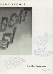 Page 9, 1951 Edition, Central High School - Wildcat Yearbook (Pueblo, CO) online yearbook collection