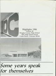 Page 5, 1986 Edition, Douglas County High School - Huskie Highlights Yearbook (Castle Rock, CO) online yearbook collection