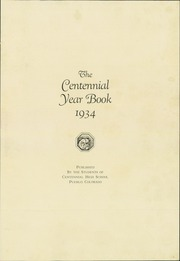Page 5, 1934 Edition, Centennial High School - Bulldog Yearbook (Pueblo, CO) online yearbook collection