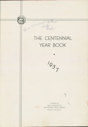 Page 5, 1937 Edition, Centennial High School - Bulldog Yearbook (Pueblo, CO) online yearbook collection