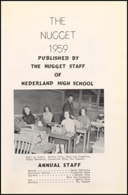 Page 7, 1959 Edition, Nederland High School - Nugget Yearbook (Nederland, CO) online yearbook collection