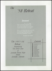 Page 5, 1958 Edition, Granada High School - Bobcat Yearbook (Granada, CO) online yearbook collection