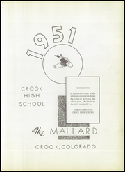 Page 7, 1951 Edition, Crook High School - Mallard Yearbook (Crook, CO) online yearbook collection