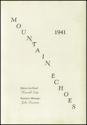 Page 7, 1941 Edition, Campion Academy - Mountain Echoes Yearbook (Loveland, CO) online yearbook collection