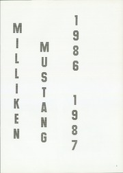 Page 5, 1987 Edition, Milliken Middle School - Milliken Mustang Yearbook (Milliken, CO) online yearbook collection
