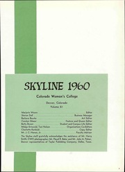 Page 5, 1960 Edition, Colorado Womens College - Skyline Yearbook (Denver, CO) online yearbook collection
