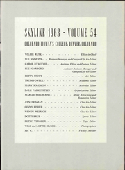Page 5, 1963 Edition, Colorado Womens College - Skyline Yearbook (Denver, CO) online yearbook collection