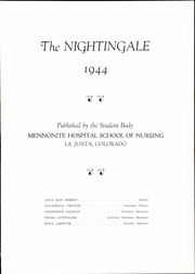 Page 5, 1944 Edition, La Junta Mennonite School of Nursing - Nightingale Yearbook (La Junta, CO) online yearbook collection