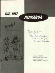 Page 7, 1957 Edition, Lamar Community College - Atakagua Yearbook (Lamar, CO) online yearbook collection