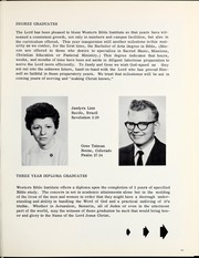 Page 15, 1964 Edition, Western Bible College - Yearbook (Denver, CO) online yearbook collection