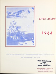Page 5, 1964 Edition, Western Bible College - Yearbook (Denver, CO) online yearbook collection
