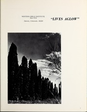 Page 5, 1966 Edition, Western Bible College - Yearbook (Denver, CO) online yearbook collection