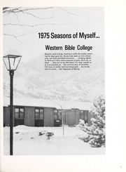Page 5, 1975 Edition, Western Bible College - Yearbook (Denver, CO) online yearbook collection