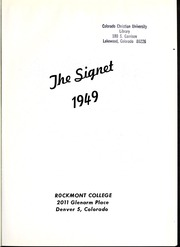 Page 5, 1949 Edition, Rockmont College - Yearbook (Denver, CO) online yearbook collection