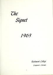 Page 5, 1963 Edition, Rockmont College - Yearbook (Denver, CO) online yearbook collection
