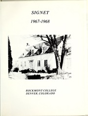 Page 5, 1968 Edition, Rockmont College - Yearbook (Denver, CO) online yearbook collection