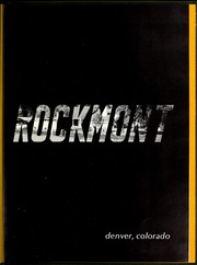 Page 5, 1969 Edition, Rockmont College - Yearbook (Denver, CO) online yearbook collection