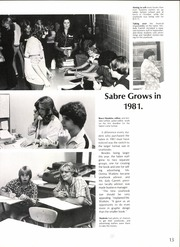 Page 17, 1981 Edition, South Garland High School - Sabre Yearbook (Garland, TX) online yearbook collection