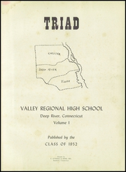 Page 5, 1952 Edition, Valley Regional High School - Triad Yearbook (Deep River, CT) online yearbook collection