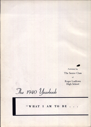 Page 6, 1940 Edition, Roger Ludlowe High School - Fairfieldiana Yearbook (Fairfield, CT) online yearbook collection