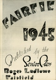 Page 6, 1945 Edition, Roger Ludlowe High School - Fairfieldiana Yearbook (Fairfield, CT) online yearbook collection