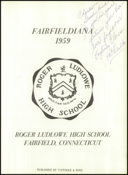 Page 5, 1959 Edition, Roger Ludlowe High School - Fairfieldiana Yearbook (Fairfield, CT) online yearbook collection
