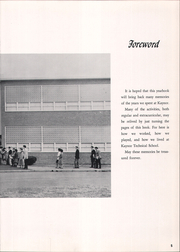 Page 9, 1961 Edition, Kaynor Regional Vocational Technical High School - Panther Yearbook (Waterbury, CT) online yearbook collection
