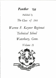 Page 5, 1968 Edition, Kaynor Regional Vocational Technical High School - Panther Yearbook (Waterbury, CT) online yearbook collection