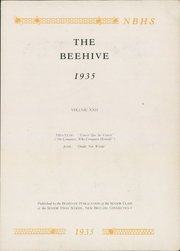 Page 7, 1935 Edition, New Britain High School - Beehive Yearbook (New Britain, CT) online yearbook collection