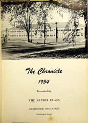 Page 5, 1954 Edition, Southington High School - Chronicle Yearbook (Southington, CT) online yearbook collection