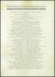 Page 5, 1932 Edition, East Hartford High School - Janus Yearbook (East Hartford, CT) online yearbook collection
