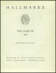 Page 5, 1940 Edition, William Hall High School - Hallmark Yearbook (West Hartford, CT) online yearbook collection