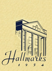 1954 Edition, William Hall High School - Hallmark Yearbook (West Hartford, CT)