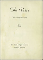 Page 5, 1937 Edition, Bassick High School - Voice Yearbook (Bridgeport, CT) online yearbook collection