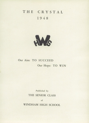 Page 5, 1948 Edition, Windham High School - Crystal Yearbook (Willimantic, CT) online yearbook collection