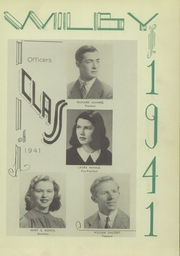 Page 11, 1941 Edition, Wilby High School - Wilby Yearbook (Waterbury, CT) online yearbook collection