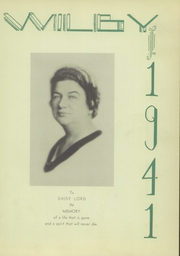 Page 9, 1941 Edition, Wilby High School - Wilby Yearbook (Waterbury, CT) online yearbook collection