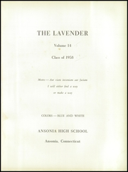Page 5, 1958 Edition, Ansonia High School - Lavender Yearbook (Ansonia, CT) online yearbook collection