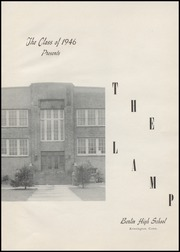 Page 5, 1946 Edition, Berlin High School - Lamp Yearbook (Berlin, CT) online yearbook collection