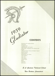 Page 5, 1959 Edition, Goodwin Technical High School - Gladiator Yearbook (New Britain, CT) online yearbook collection