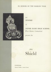 Page 5, 1954 Edition, Notre Dame High School - Shield Yearbook (West Haven, CT) online yearbook collection