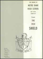 Page 5, 1959 Edition, Notre Dame High School - Shield Yearbook (West Haven, CT) online yearbook collection