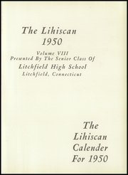 Page 5, 1950 Edition, Litchfield High School - Yearbook (Litchfield, CT) online yearbook collection
