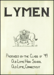 Page 7, 1949 Edition, Old Lyme High School - Lymen Yearbook (Old Lyme, CT) online yearbook collection