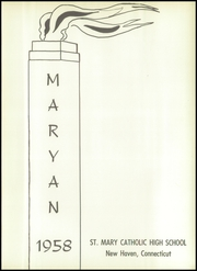 Page 5, 1958 Edition, St Marys High School - Maryan Yearbook (New Haven, CT) online yearbook collection
