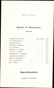 Page 16, 1900 Edition, Meriden High School - Annual Yearbook (Meriden, CT) online yearbook collection