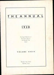 Page 5, 1930 Edition, Meriden High School - Annual Yearbook (Meriden, CT) online yearbook collection