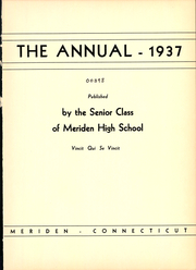Page 5, 1937 Edition, Meriden High School - Annual Yearbook (Meriden, CT) online yearbook collection