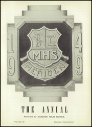 Page 5, 1949 Edition, Meriden High School - Annual Yearbook (Meriden, CT) online yearbook collection