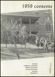 Page 7, 1959 Edition, Waterbury Catholic High School - Candle Yearbook (Waterbury, CT) online yearbook collection